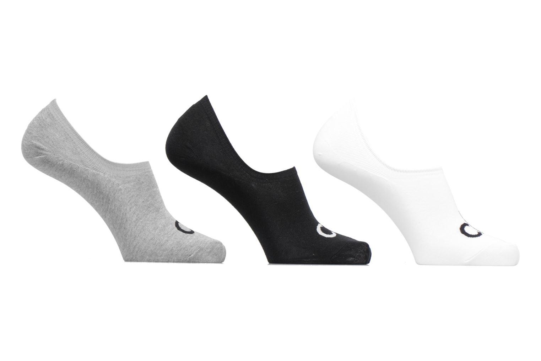 Mini-Soquettes LOGO LINER PACK Pack de 3 Coton 96 GRIS BLANC NOIR