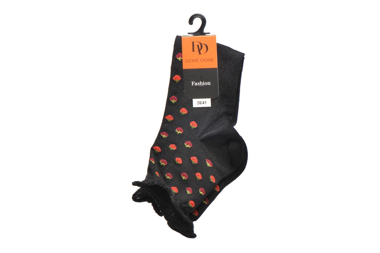Socks & tights Doré Doré Chaussettes Socquettes Fraises White back view