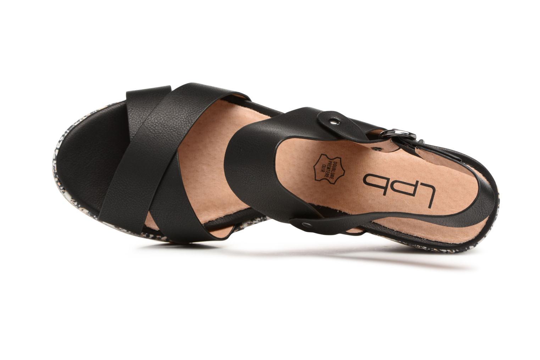 Sandales et nu-pieds Les P'tites Bombes Ondine Noir vue gauche