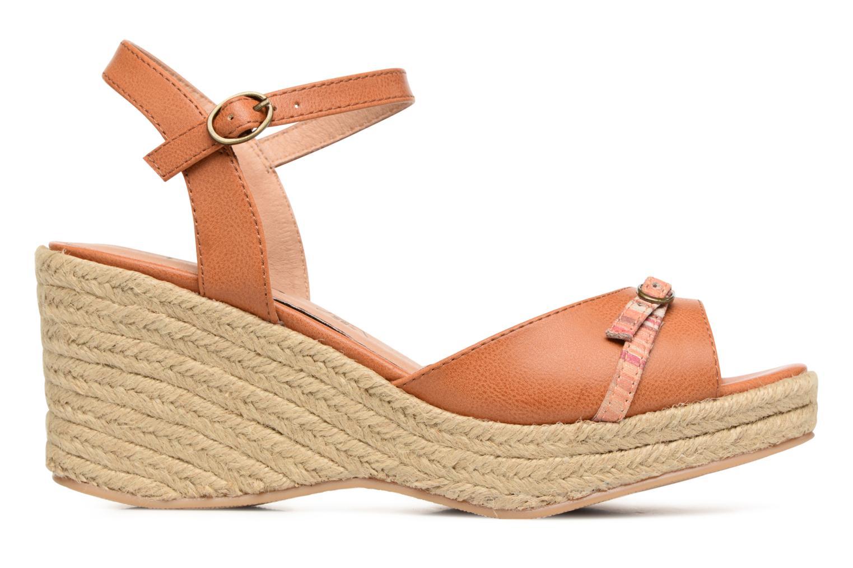Sandales et nu-pieds Les P'tites Bombes Penelope Marron vue derrière