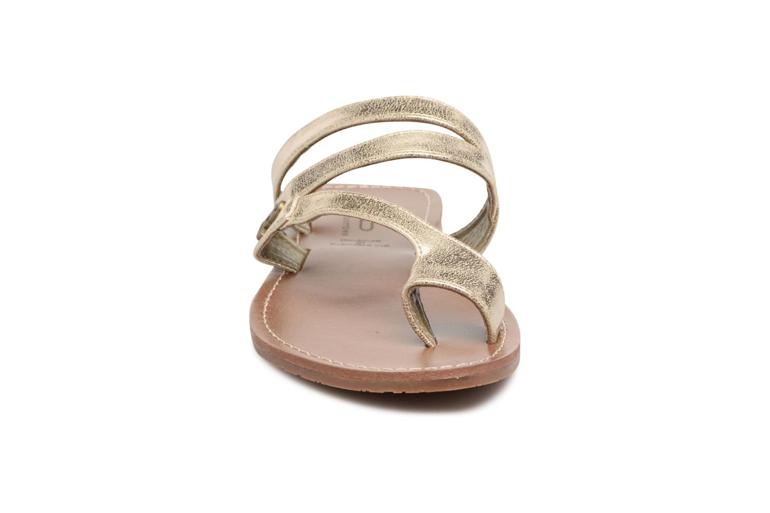 Sandals Les P'tites Bombes Texane Bronze and Gold model view