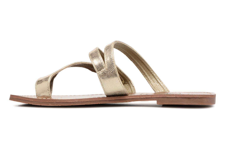 Sandales et nu-pieds Les P'tites Bombes Texane Or et bronze vue face