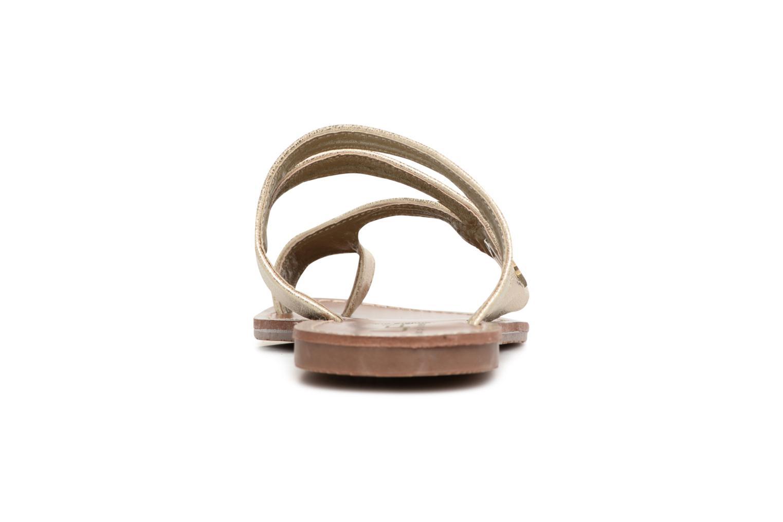 Sandales et nu-pieds Les P'tites Bombes Texane Or et bronze vue droite