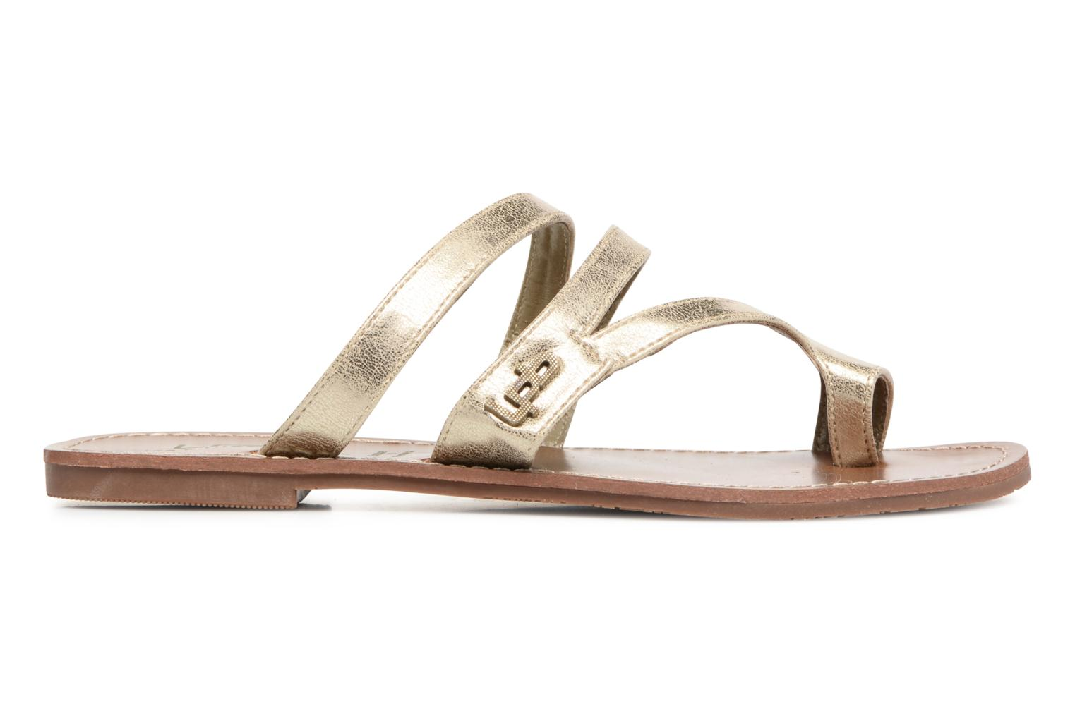 Sandals Les P'tites Bombes Texane Bronze and Gold back view