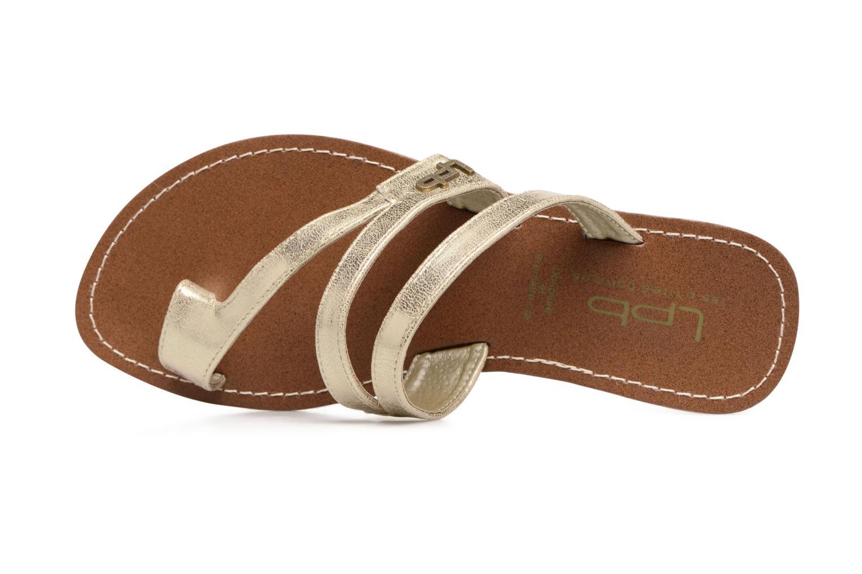 Sandales et nu-pieds Les P'tites Bombes Texane Or et bronze vue gauche