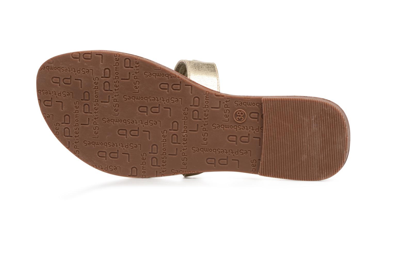 Sandales et nu-pieds Les P'tites Bombes Texane Or et bronze vue haut