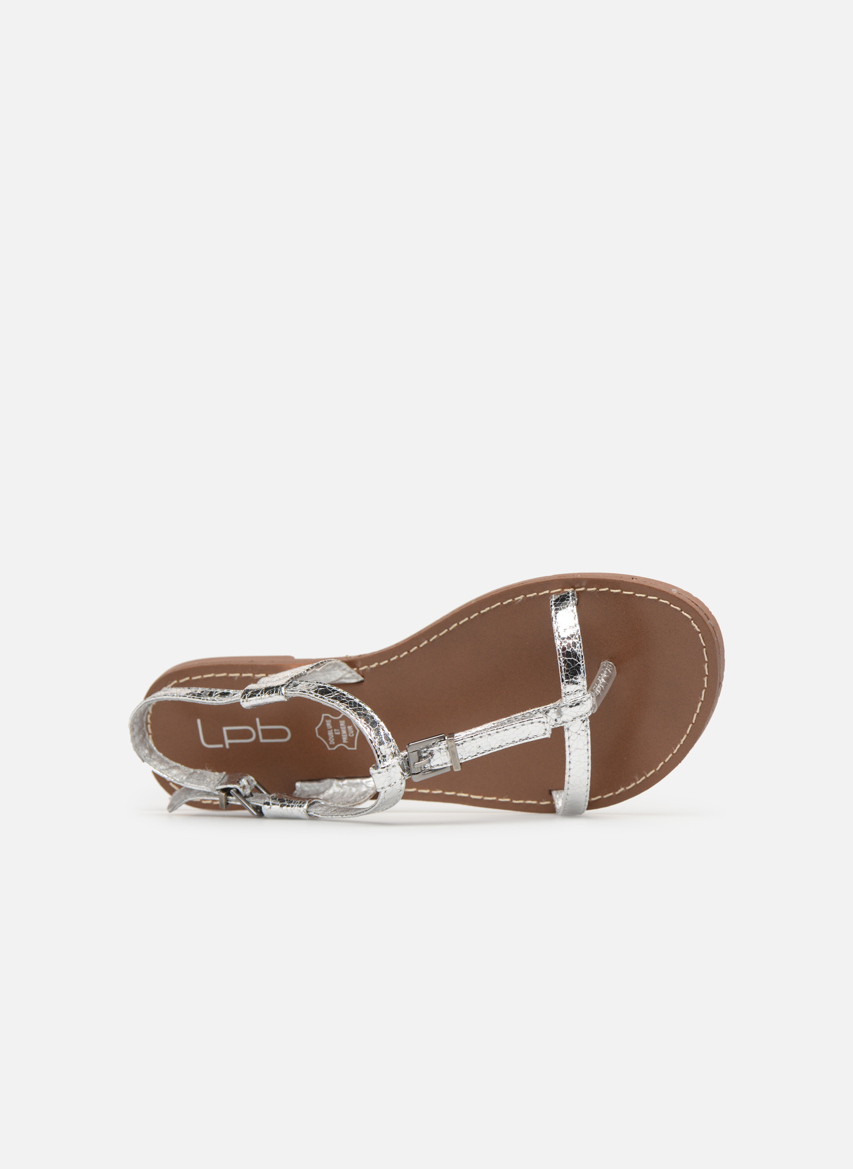 Sandals Les P'tites Bombes Zhoe Silver view from the left