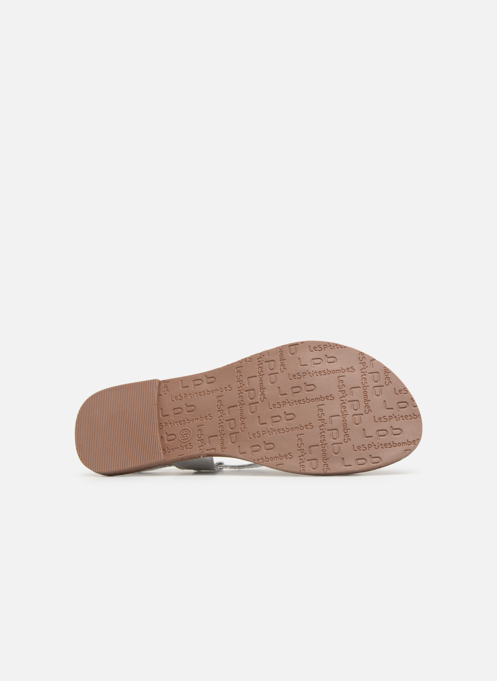 Sandales et nu-pieds Les P'tites Bombes Zhoe Argent vue haut