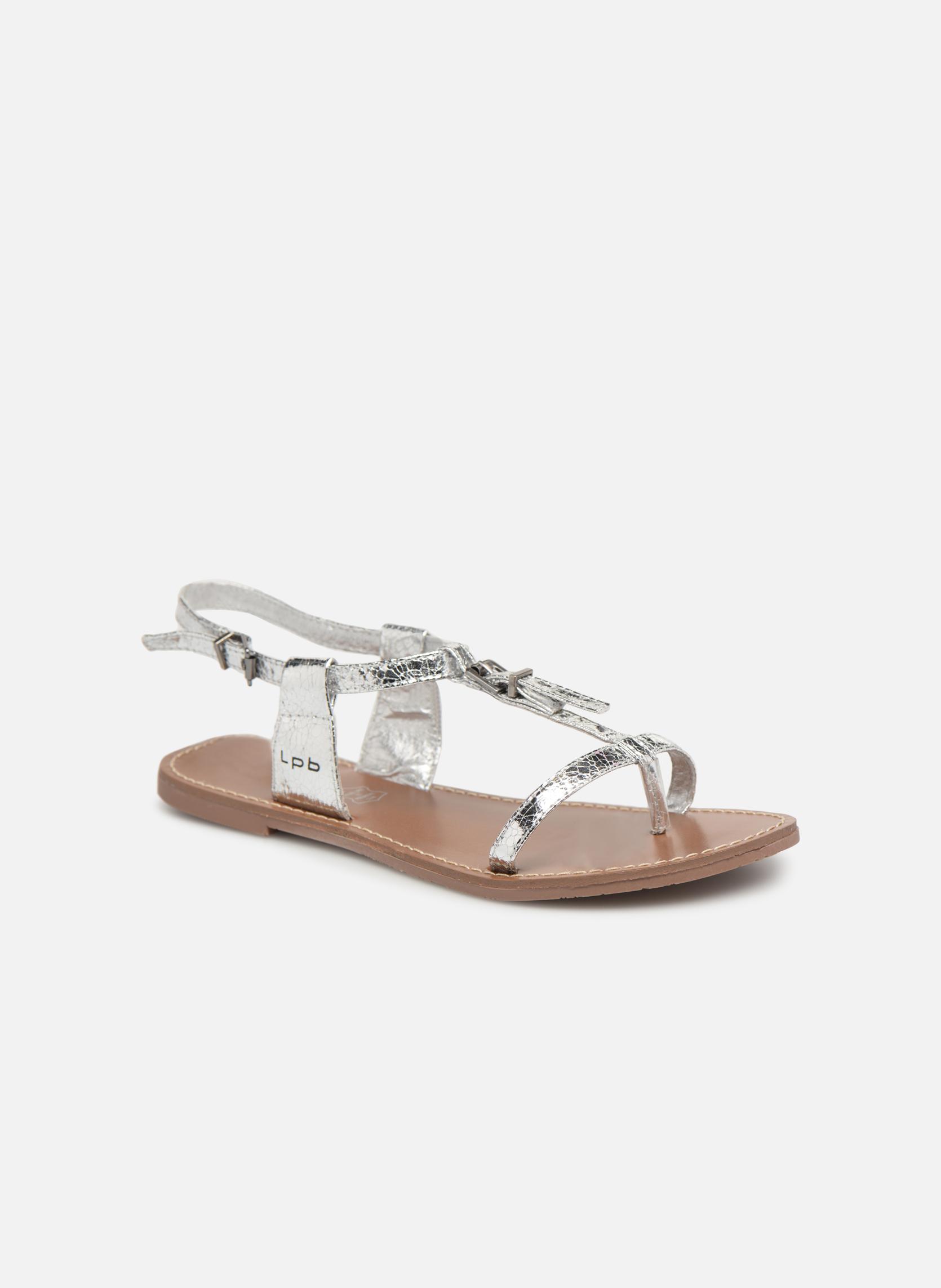 Sandales et nu-pieds Les P'tites Bombes Zhoe Argent vue détail/paire