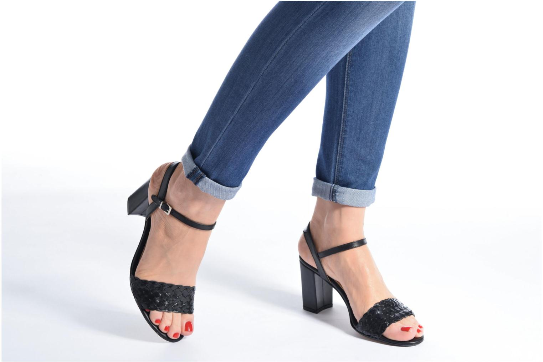 Sandali e scarpe aperte Georgia Rose Satresse Nero immagine dal basso