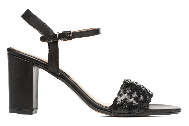 Sandales et nu-pieds Georgia Rose Satresse Noir vue derrière