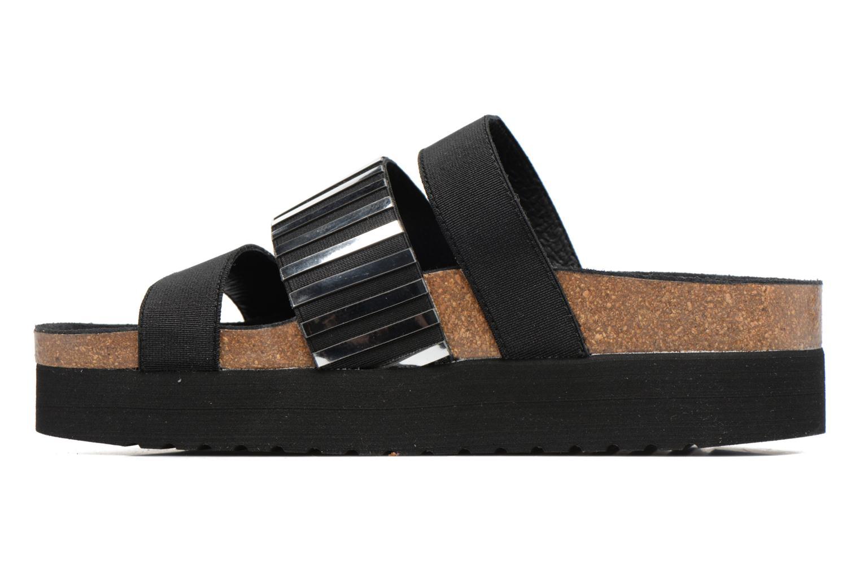 Sandales et nu-pieds Sixty Seven Strie 78844 Noir vue face