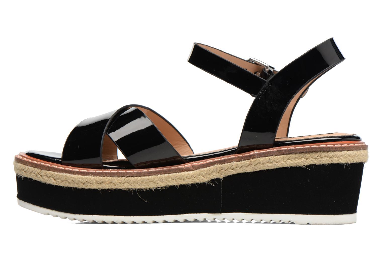 Sandales et nu-pieds MTNG Alexandra 55409 Noir vue face