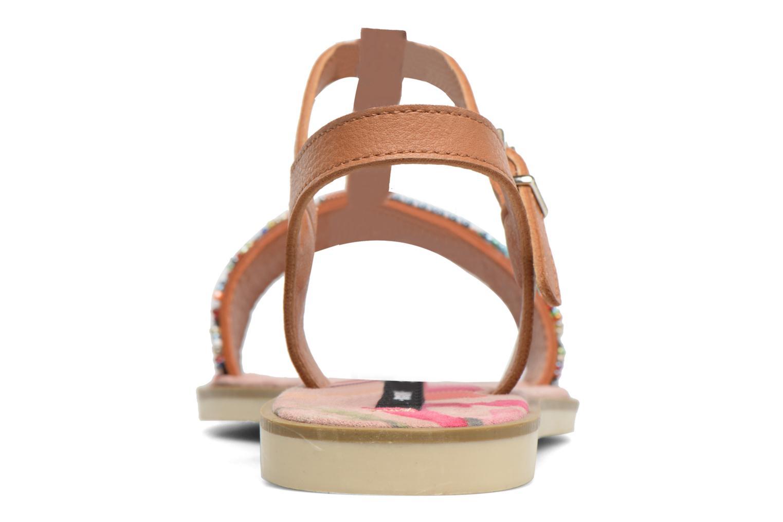 Sandales et nu-pieds MTNG Azalea 50792 Marron vue droite
