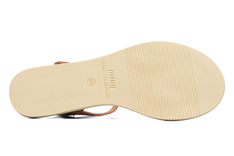 Sandales et nu-pieds MTNG Azalea 50792 Marron vue haut