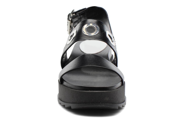 Sandali e scarpe aperte Diesel D-Yeletta WS Nero modello indossato