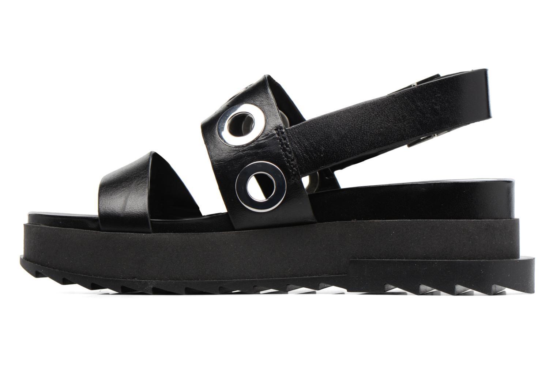 Sandali e scarpe aperte Diesel D-Yeletta WS Nero immagine frontale
