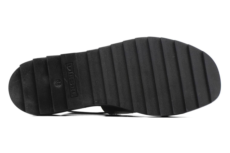 Sandali e scarpe aperte Diesel D-Yeletta WS Nero immagine dall'alto
