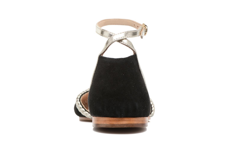 Sandales et nu-pieds Petite mendigote Trefle Noir vue droite