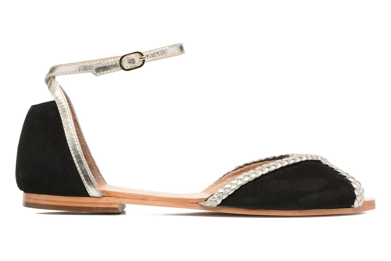 Sandales et nu-pieds Petite mendigote Trefle Noir vue derrière