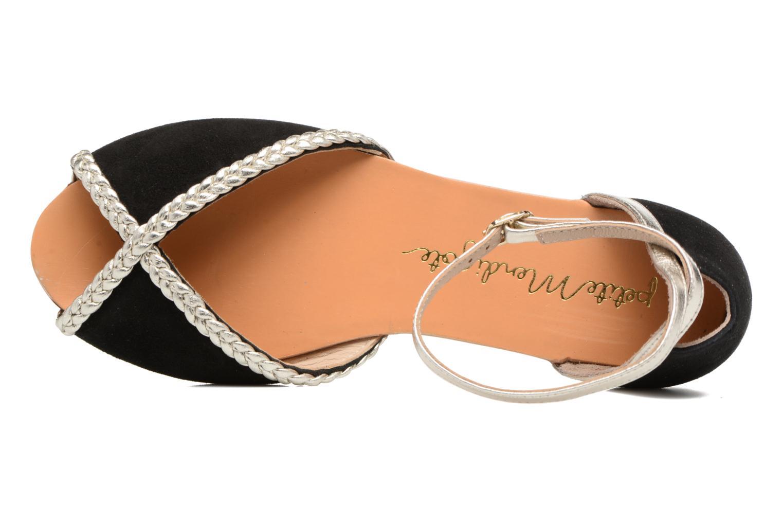 Sandales et nu-pieds Petite mendigote Trefle Noir vue gauche