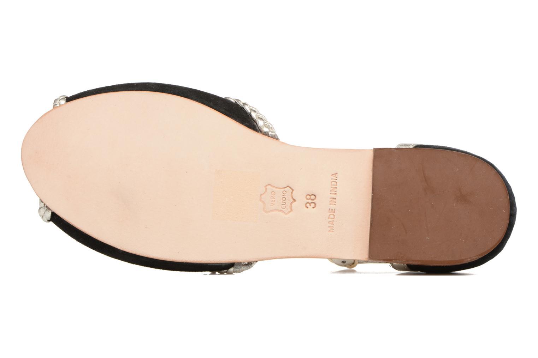 Sandales et nu-pieds Petite mendigote Trefle Noir vue haut