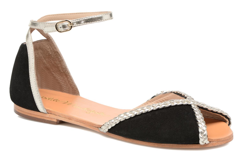 Sandales et nu-pieds Petite mendigote Trefle Noir vue détail/paire