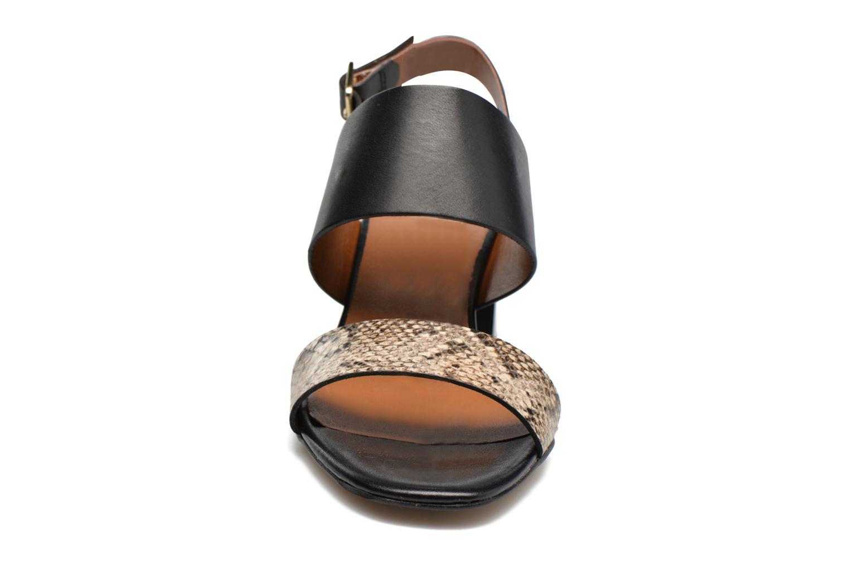Sandales et nu-pieds Georgia Rose Batine Noir vue portées chaussures