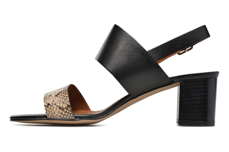 Sandales et nu-pieds Georgia Rose Batine Noir vue face