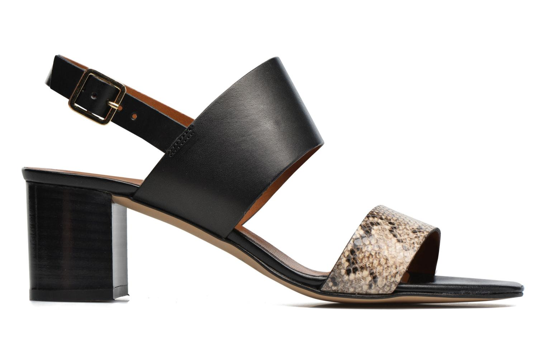Sandales et nu-pieds Georgia Rose Batine Noir vue derrière
