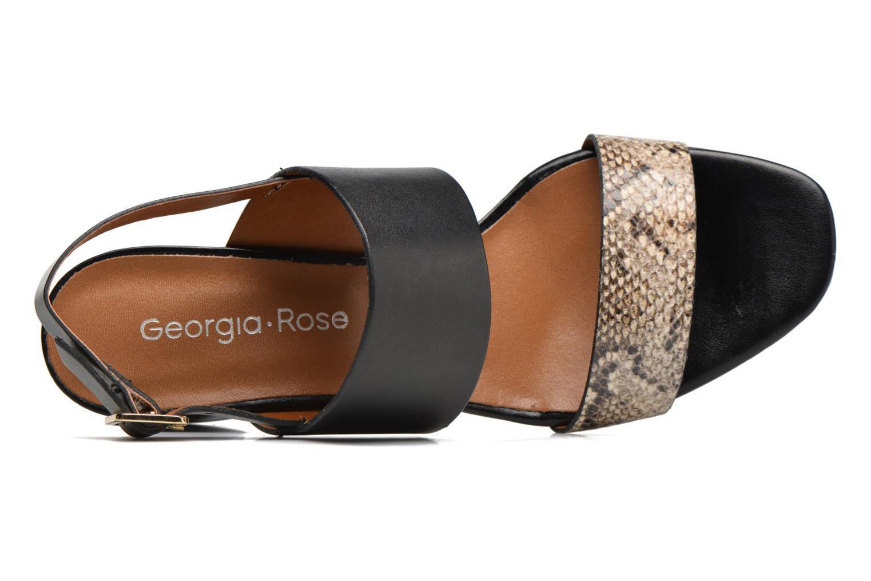 Sandalias Georgia Rose Batine Negro vista lateral izquierda