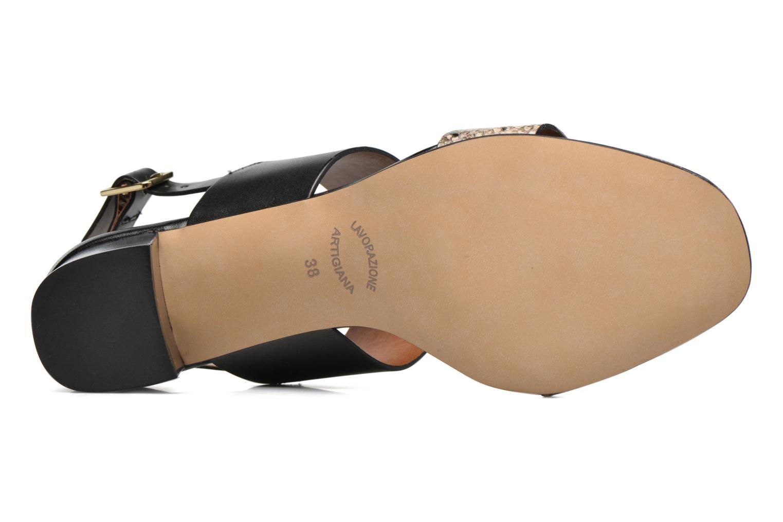 Sandales et nu-pieds Georgia Rose Batine Noir vue haut
