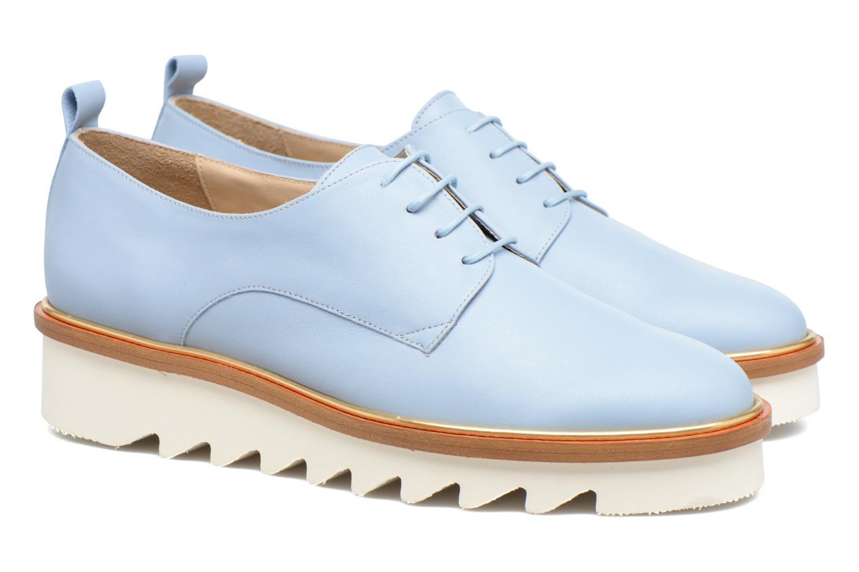 Chaussures à lacets MAURICE manufacture Jack Bleu vue 3/4