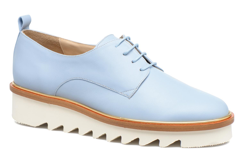 Chaussures à lacets MAURICE manufacture Jack Bleu vue détail/paire