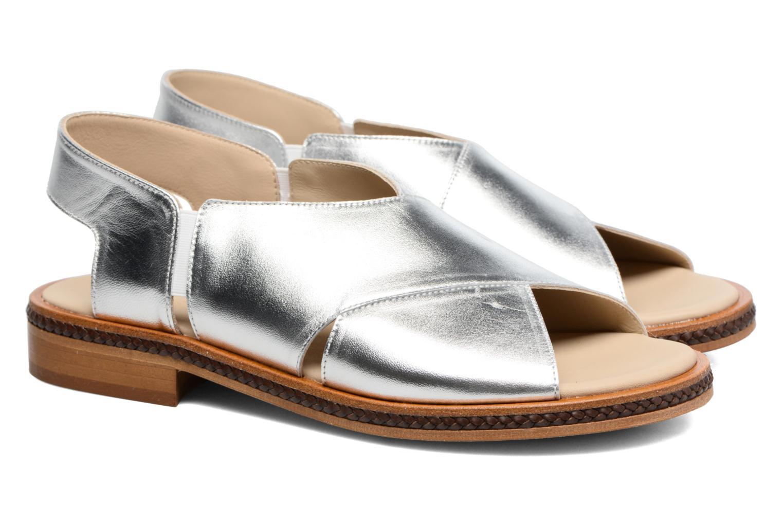 Sandales et nu-pieds MAURICE manufacture Lise Argent vue 3/4