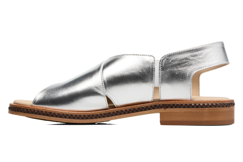 Sandales et nu-pieds MAURICE manufacture Lise Argent vue face