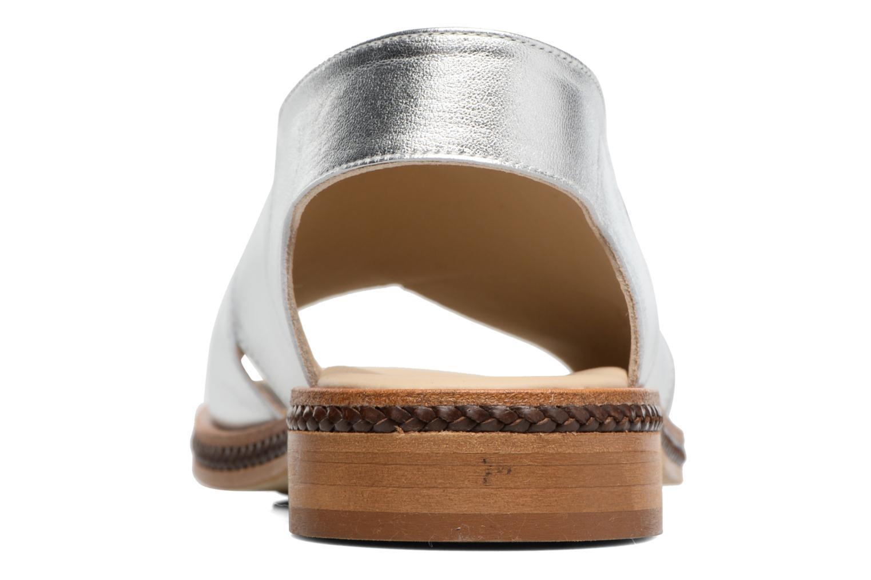 Sandales et nu-pieds MAURICE manufacture Lise Argent vue droite