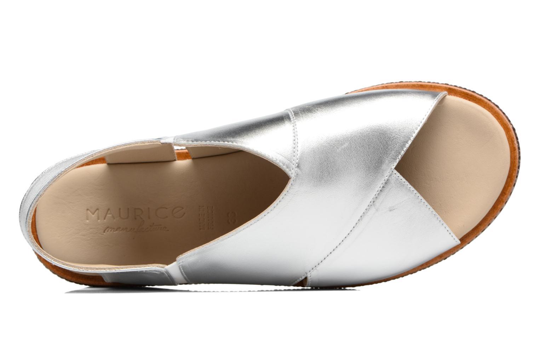 Sandales et nu-pieds MAURICE manufacture Lise Argent vue gauche
