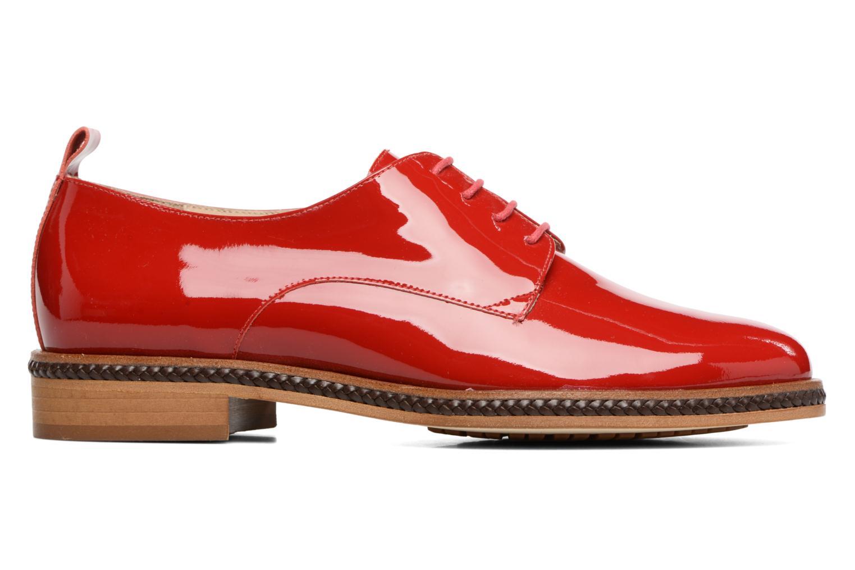 Chaussures à lacets MAURICE manufacture Jane Rouge vue derrière