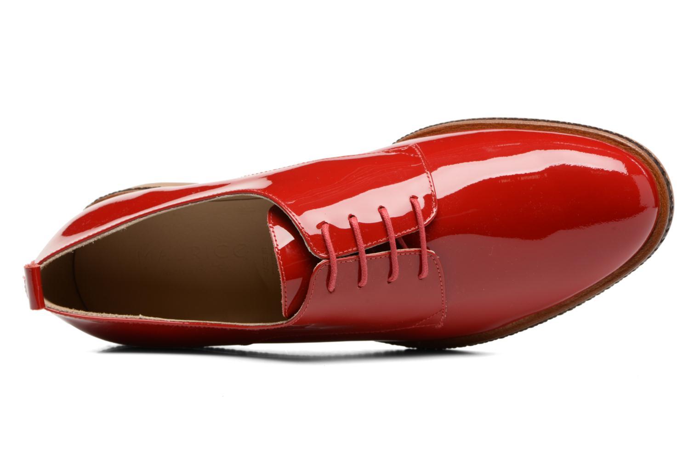 Chaussures à lacets MAURICE manufacture Jane Rouge vue gauche