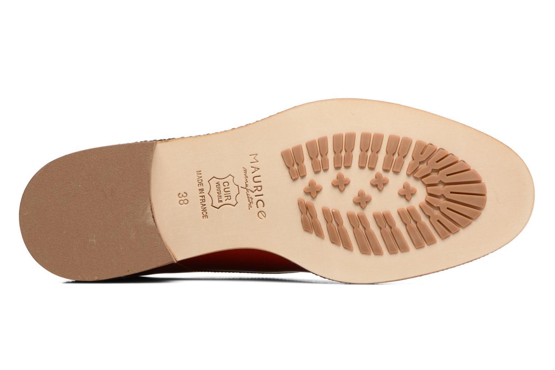 Chaussures à lacets MAURICE manufacture Jane Rouge vue haut