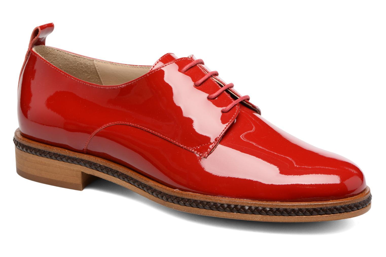 Chaussures à lacets MAURICE manufacture Jane Rouge vue détail/paire