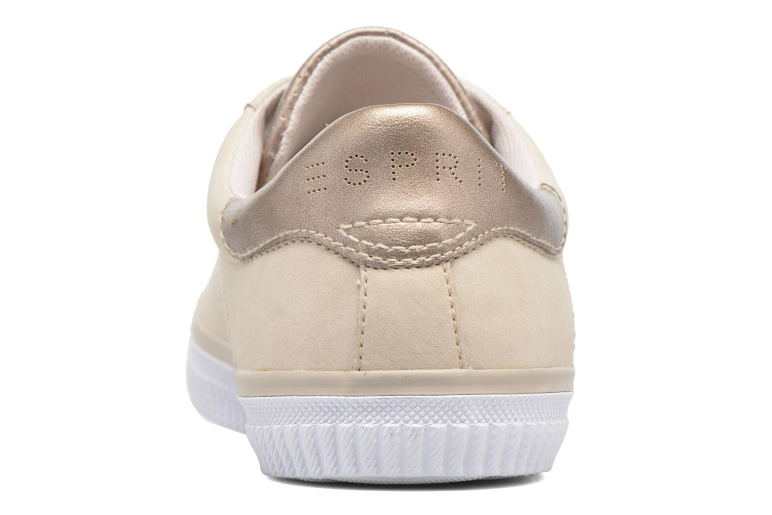 Trainers Esprit Riata Lace Up Beige view from the right