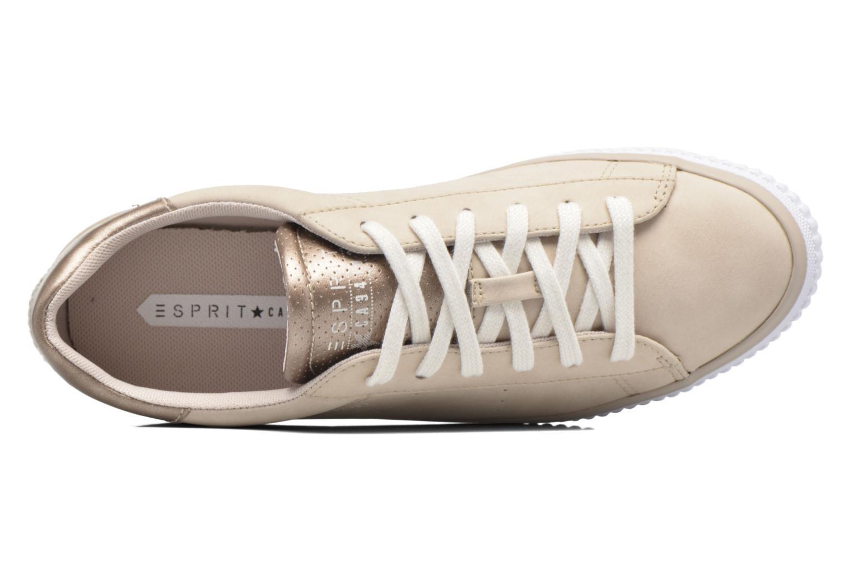 Sneaker Esprit Riata Lace Up beige ansicht von links
