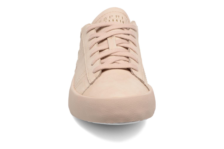 Baskets Esprit Mandy Lace Up Beige vue portées chaussures