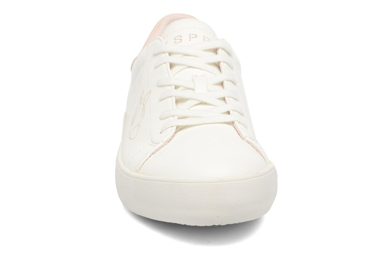 Baskets Esprit Mandy Lace Up Blanc vue portées chaussures