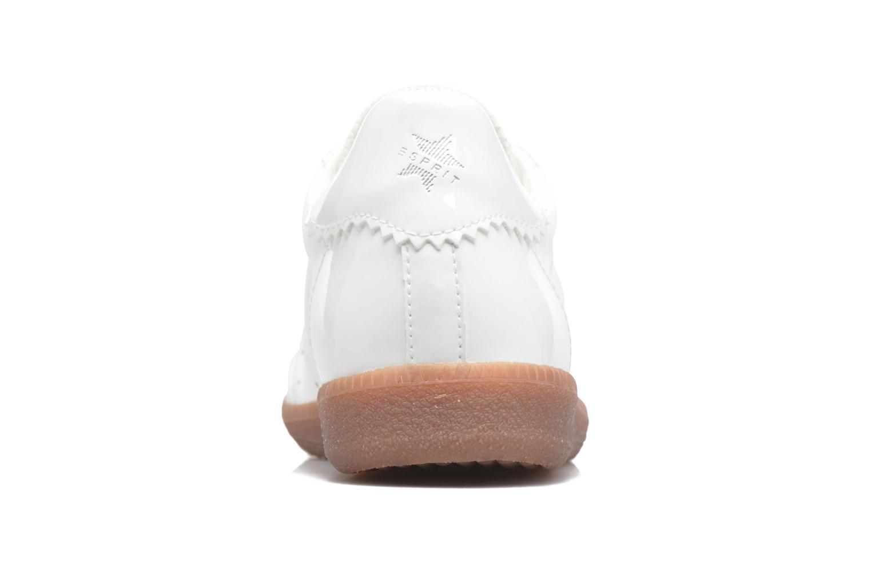 Baskets Esprit Trainee Lace Up Blanc vue droite