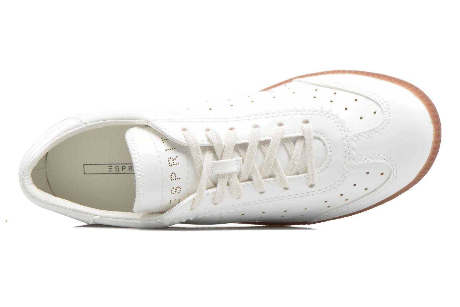 Sneakers Esprit Trainee Lace Up Bianco immagine sinistra