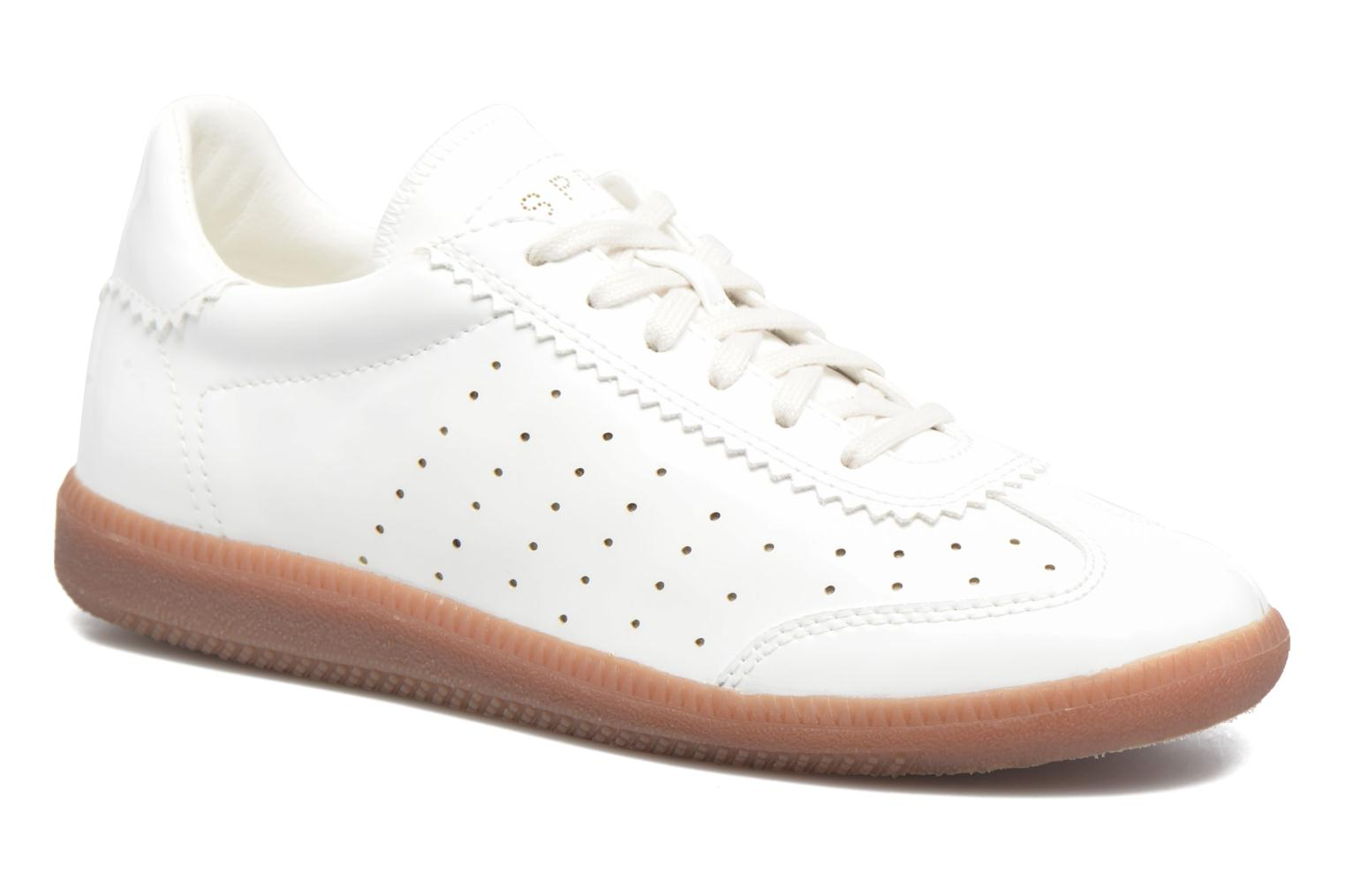 Trainers Esprit Trainee Lace Up White detailed view/ Pair view