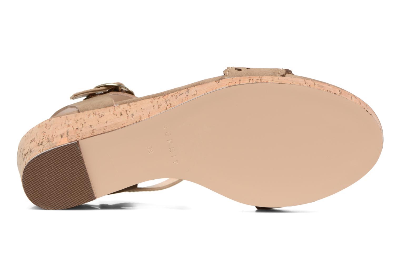 Sandales et nu-pieds Esprit Gessie Sandal Marron vue haut